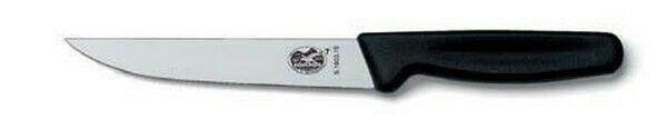 Victorinox Standard Tranchiermesser, 12 cm, schwarz, gerade & schmale Klinge, 5.1803.12