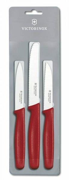 Victorinox Standard Gemüsemesser-Set 3-teilig, rot, 5.1113.3