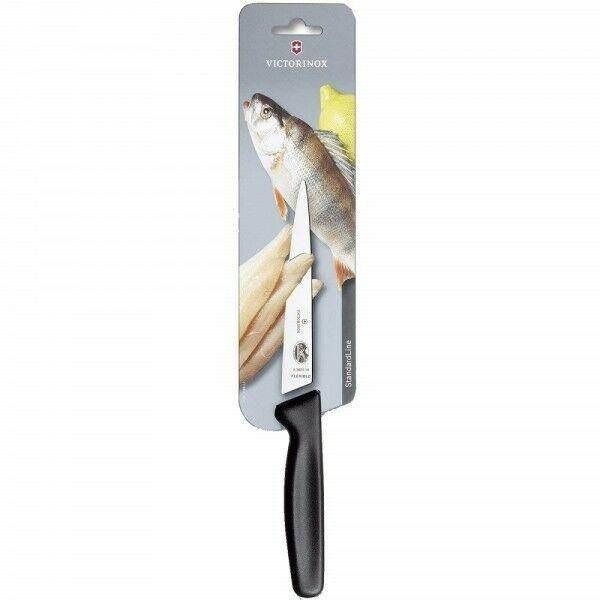 Victorinox Standard Filetiermesser, schwarz, flexible Klinge, 16 cm, 5.3803.16B