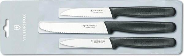 Victorinox Standard Gemüsemesser-Set 3-teilig, schwarz, 5.1113.3